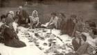 """Доўгі святочны стол для супрацоўнікаў газеты """"Савецкае Палессе"""""""