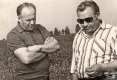 Васіль Фёдаравіч Праскураў і Міхаіл Міхайлавіч Кунцэвіч. 1980 год